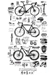 Bike Maths Mens Grey Tshirt
