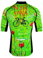 Bike Nirvana Mens Lime Cycling Jersey | Cycology Clothing