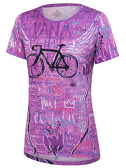Nirvana Womens Pink Technical T shirt | Cycology Clothing