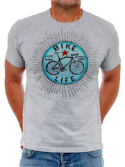 Bike Life Mens Grey Cycling T shirt | Cycology Clothing