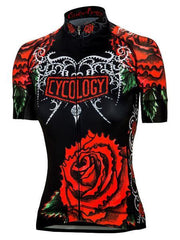 Black Rose Womens Cycling Jersey | Cycology Clothing