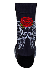 Roses Black Cycling Socks | Cycology Clothing