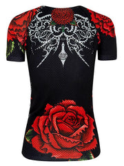 Black Rose Womens Cycling Base Layer | Cycology Clothing