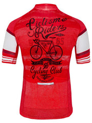 Ciclismo Mens Mens Red Cycling Jersey | Cycology Clothing
