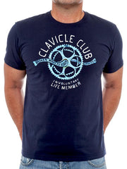 Clavicle Club Mens Navy T shirt | Cycology Clothing