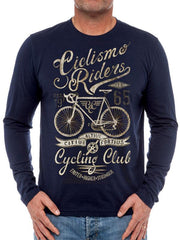 Ciclismo Mens Navy Long Sleeve Cycling T shirt | Cycology Clothing
