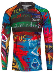 8 Days Mens Long Sleeve Blue Cycling Base Layer | Cycology Clothing
