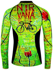 Nirvana Mens Lime Long Sleeve Cycling Base Layer | Cycology AUS