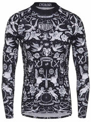 Velo Tattoo Mens Black Long Sleeve Cycling Base Layer | Cycology