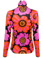 Pedal Flower Windproof Black Cycling Jacket | Cycology Clothing