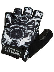 Velo Tattoo Black Cycling Gloves | Cycology