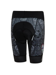 Day of the Living Black Womens Cycling Shorts | Cycology Clothing