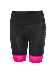 Cycology Womens Logo Black Pink Cycling Shorts
