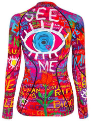 See Me Womens Long Sleeve Cycling Base Layer | Cycology AUS