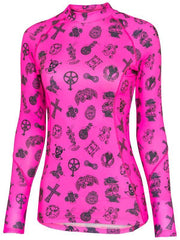 Velosophy Womens Pink Long Sleeve Cycling Base Layer | Cycology