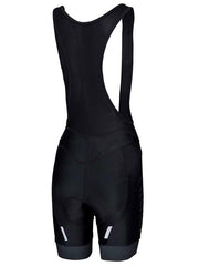 Womens Black Logo Cycling Bib Shorts