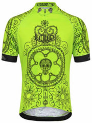Day of the Living Lime Mens Relaxed Fit Cycling Jersey | Cycology AUS