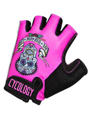 Day of the Living Pink Cycling Gloves | Cycology  Clothing AUS