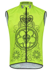 Day of the Living Lime Mens Lightweight Cycling Gilet | Cycology  AUS