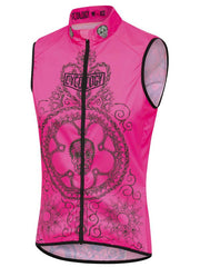 Day of the Living Womens Lightweight Cycling Gilet Pink | Cycology AUS