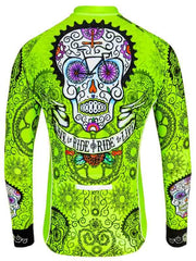 Day of the Living Lime Mens Long Sleeve Cycling Jersey | Cycology AUS