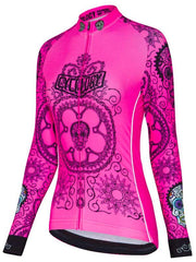 DOTL Womens Pink Long Sleeve Cycling Jersey | Cycology AUS