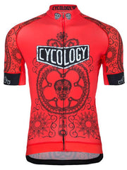 Day of the Living Men's Cycling Jersey in Red | Cycology Clothing