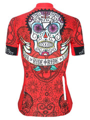 Day of the Living Red Womens Cycling Jersey | Cycology Clothing