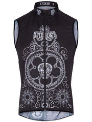 Day of the Living Black Mens Lightweight Gilet | Cycology Clothing AUS