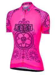 Day of the Living Pink Womens Cycling Jersey