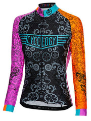 Extra Lucky Chain Ring Women's Long Sleeve Cycling Jersey