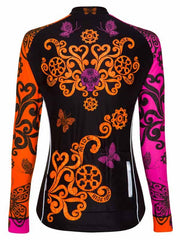 Free Your Mind Womens Black Long Sleeve Cycling Jersey | Cycology