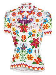 Frida White Women's Cycling Jersey | Cycology Clothing AUS