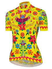 Frida Womens Short Sleeve Frida Womens Short Sleeve Yellow Cycling Jersey | Cycology AUS