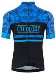 Geometric Blue Mens Cycling Jersey | Cycology Clothing
