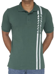 Vintage Stripe Mens Racing Green Polo | Cycology AUS