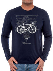 Hierarchy of Needs Mens Navy Long Sleeve Cycling T shirt | Cycology