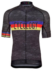 Hill Cycology Men's Grey Marle Cycling Jersey