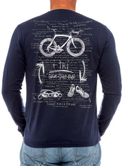 I Tri Mens Navy Long Sleeve Triathlon T Shirt | Cycology Clothing
