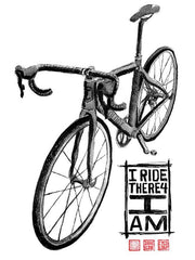 I Ride Therefore I Am Mens Grey Cycling T shirt | Cycology Clothing