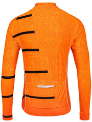 Inspire Mens Long Sleeve Orange Cycling Jersey | Cycology AUS