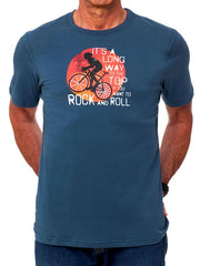 Long Way to the Top Mens Blue Cycling T Shirt | Cycology AUS