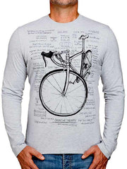 Cognitive Therapy Mens Grey Long Sleeve Cycling Tee