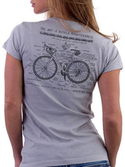 Bike Maintenance Womens Grey T Shirt | Cycology Clothing