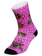 Ladybug Pink Cycling Socks | Cycology Clothing AUS