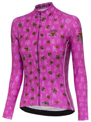 Ladybug Womens Pink Long Sleeve Cycling Jersey | Cycology Clothing