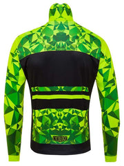 Geometric Lime Mens Windproof Cycling Jacket | Cycology Clothing