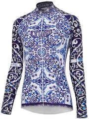 Majolica Womens Long Sleeve White Cycling Jersey | Cycology AUS