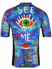 See Me Mens Cycling Jersey Blue | Cycology AUS