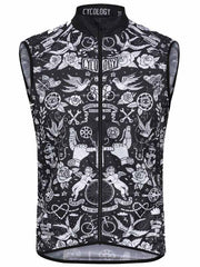 Velo Tattoo Mens Black Lightweight Cycling Gilet | Cycology AUS